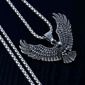 Eagle Pendant Necklace For Men Male 3.0MM Stainles